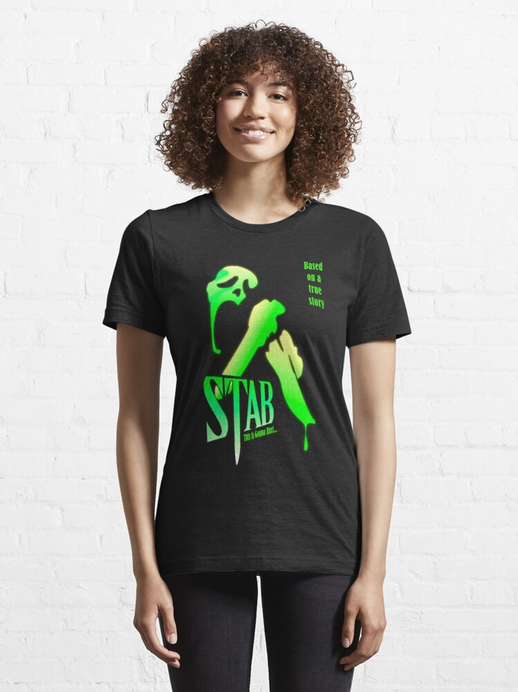 Alternate view of Stab (from the Scream movie) Essential T-Shirt