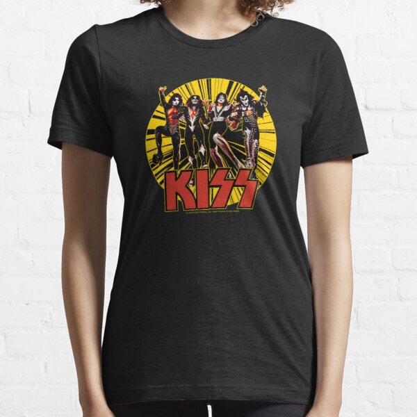 KISS Band Members - Demon, Spaceman, Starchild, Catman Essential T-Shirt