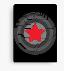 Winter Soldier Shield Canvas Print
