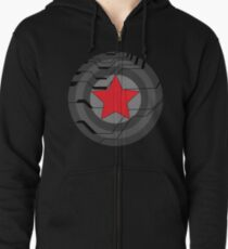 Winter Soldier Shield Zipped Hoodie