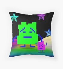 Mooninites are here for your silk pillowcases Throw Pillow