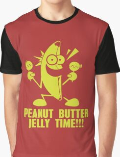 Banana Peanut Butter Jelly Time funny nerd geek geeky Graphic T-Shirt