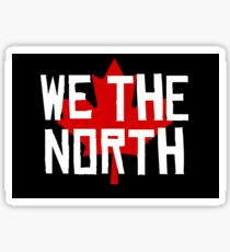We the North w/maple leaf Sticker