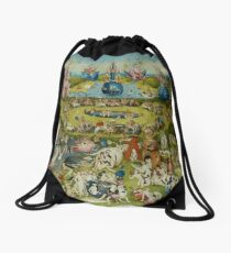 The Garden of Earthly Delights by Hieronymus Bosch (1480-1505) Drawstring Bag