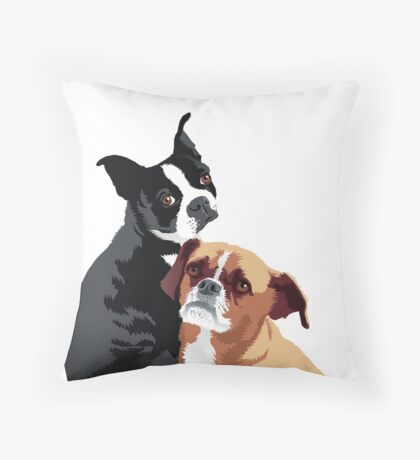 Tuppence and Pepper Throw Pillow