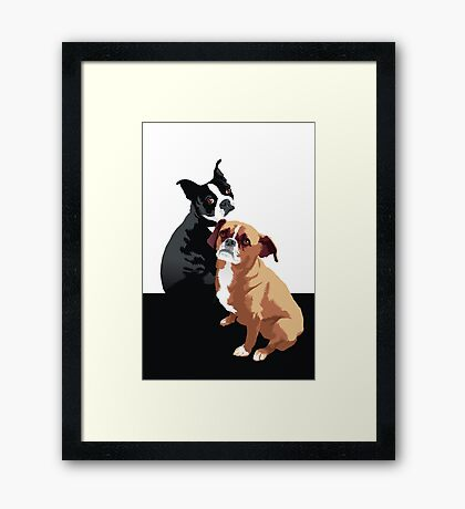 Tuppence and Pepper Framed Print