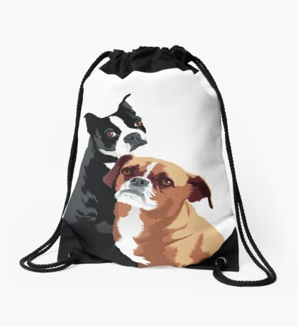 Tuppence and Pepper Drawstring Bag