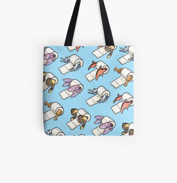 Toilet Paper Dreams All Over Print Tote Bag