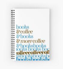 Books -> Coffee -> Books -> COFFEECOFFEEBOOKSBOOKSBOO Spiral Notebook
