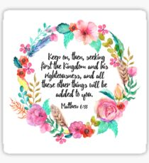 Matthew 6:33 Sticker