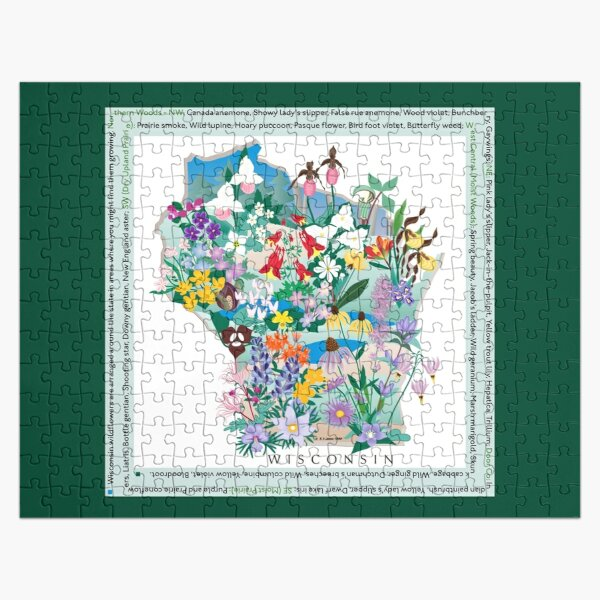 Wisconsin Wildflowers Jigsaw Puzzle