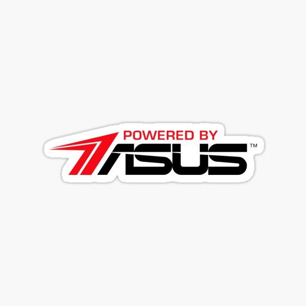 Powered By Asus Logo - Logotipo Pegatina