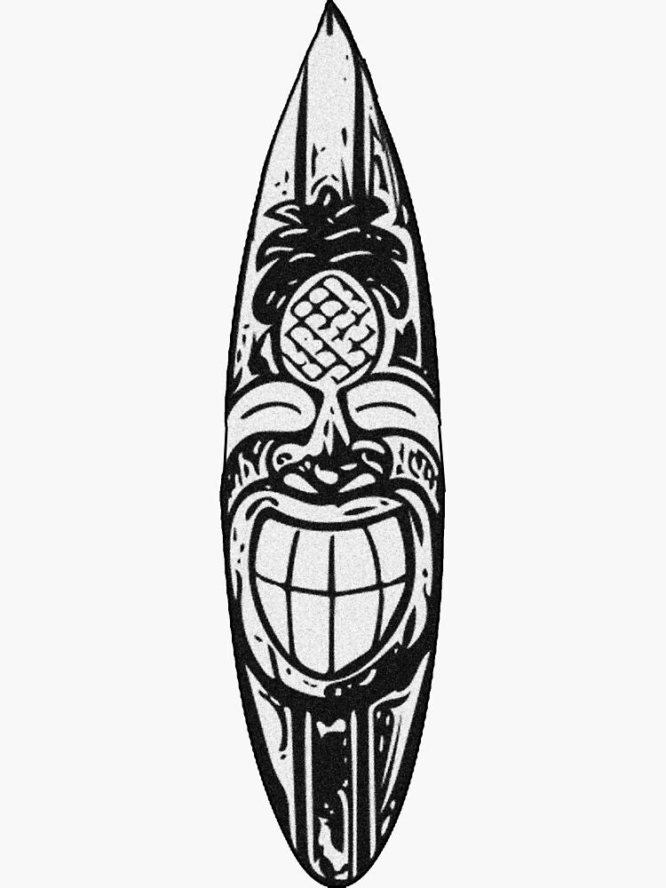 Tiki Surfboard by Kalebsnow