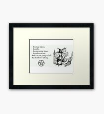 Witches don't... Framed Print