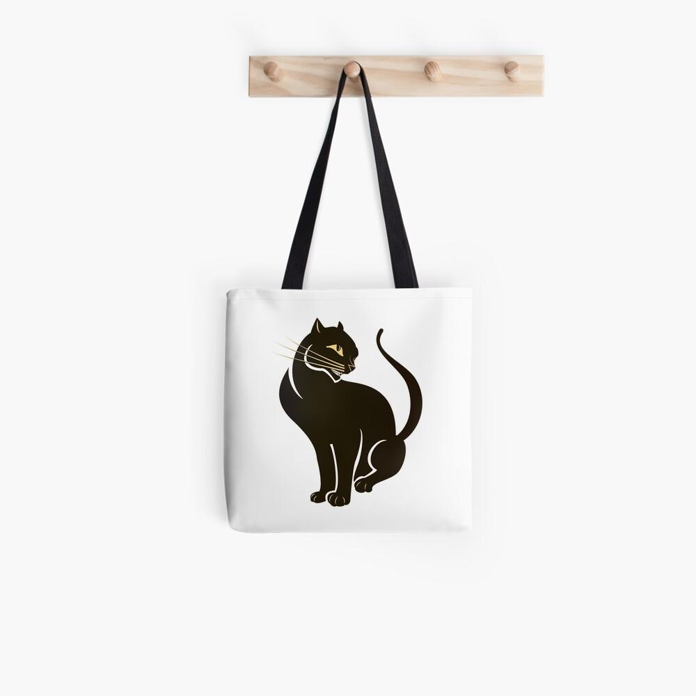 Dark Golden Cat Tote Bag