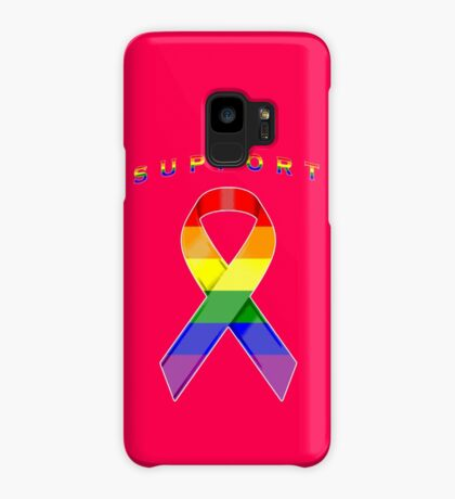 Gay Pride Awareness Ribbon of Support Case/Skin for Samsung Galaxy