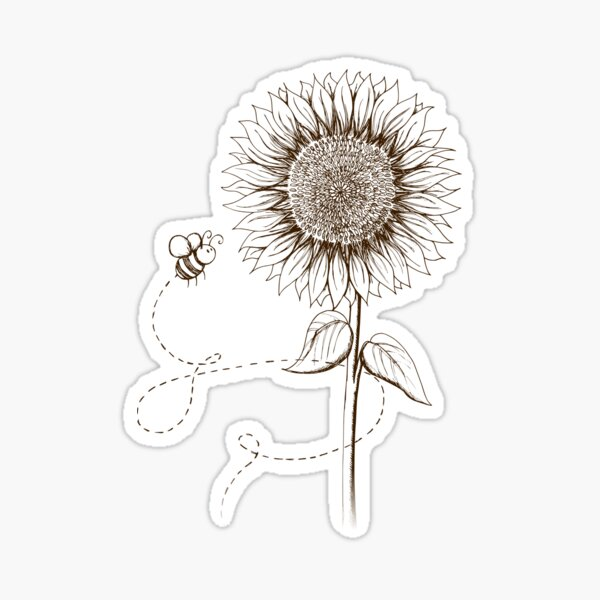 Sunny Bee - two lof bees Sticker