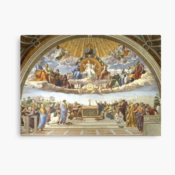 Disputation of the Holy Sacrament - Raphael - (La Disputa) Canvas Print