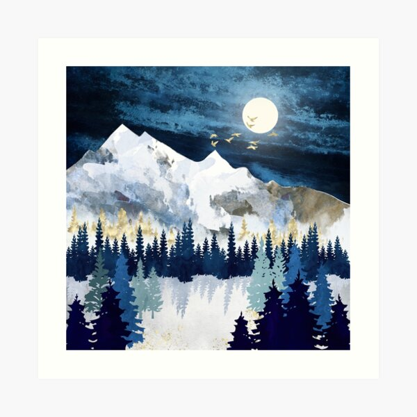 Mondschnee Kunstdruck
