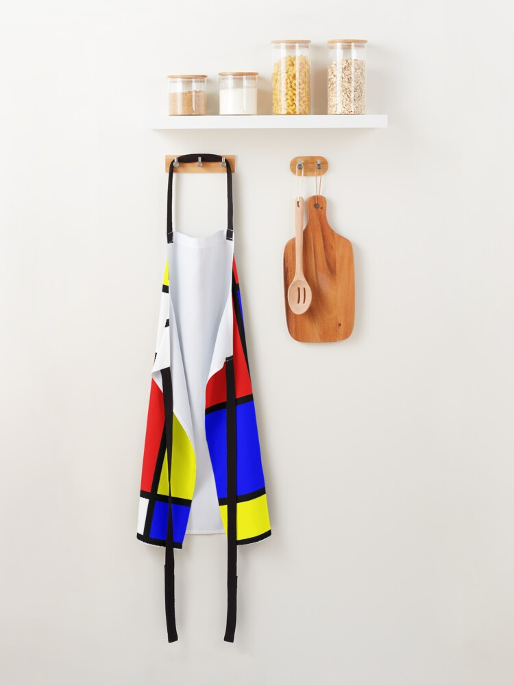 Alternate view of mondrian painting Apron