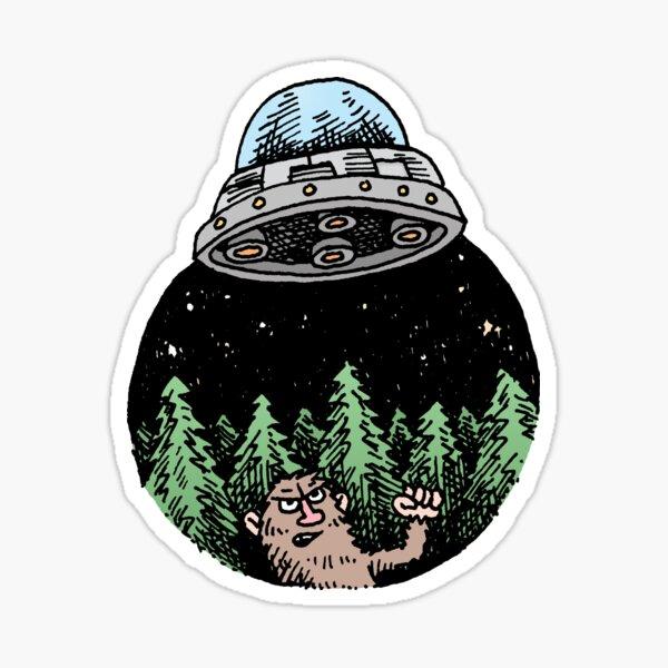 Yeti Has UFO Troubles Sticker
