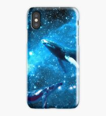 Space Whales and Scubba Diver iPhone Case