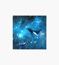 Space Whales and Scubba Diver Art Board