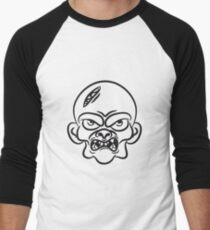 zombie funny comic head Men's Baseball ¾ T-Shirt