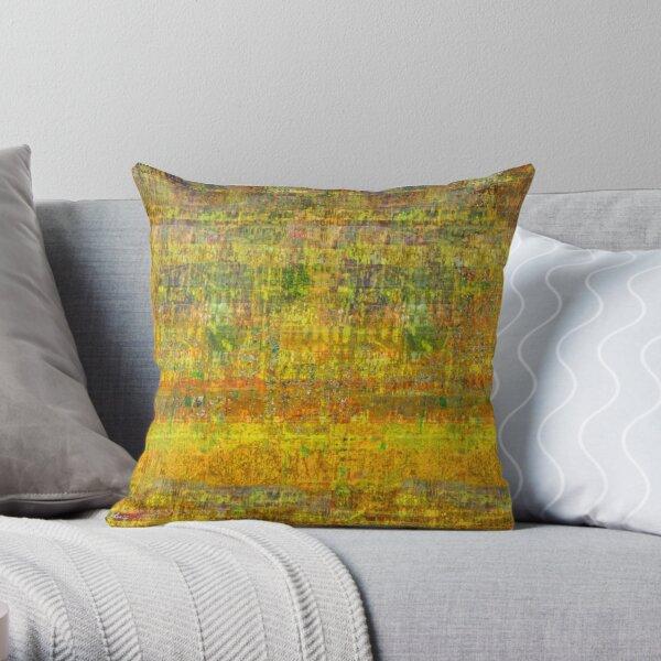 Yellowscape Throw Pillow