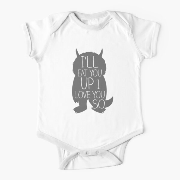 I'LL EAT YOU UP I LOVE YOU SO Short Sleeve Baby One-Piece