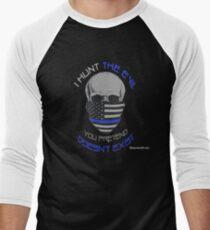 Camiseta ¾ bicolor para hombre BLUE Line Skull