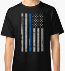 Camiseta clásica Bandera azul de policía