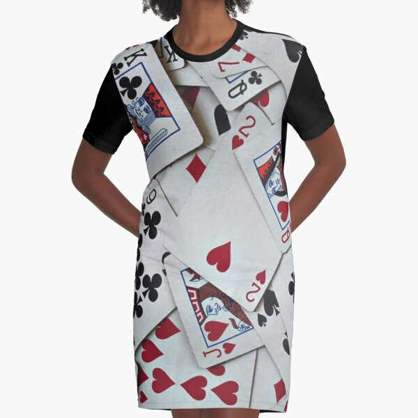 Playing Cards Poker Games Queen King Graphic T-Shirt Dress