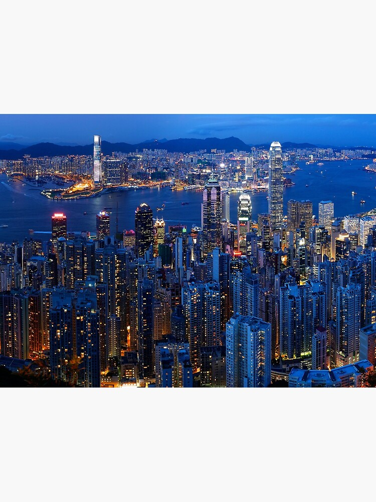 Hong Kong Skyline and Victoria Harbour at dusk by liesjes