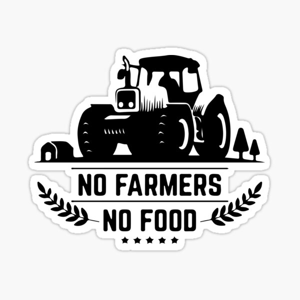 support punjabi farmers shirt outfit - no farmers no food shirt outfit. Sticker