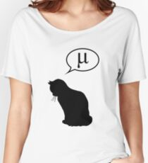 Physics Cat and Friction Coefficient Women's Relaxed Fit T-Shirt