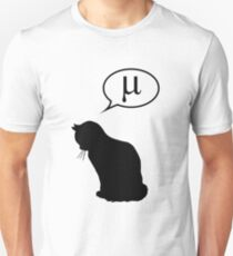 Physics Cat and Friction Coefficient T-Shirt