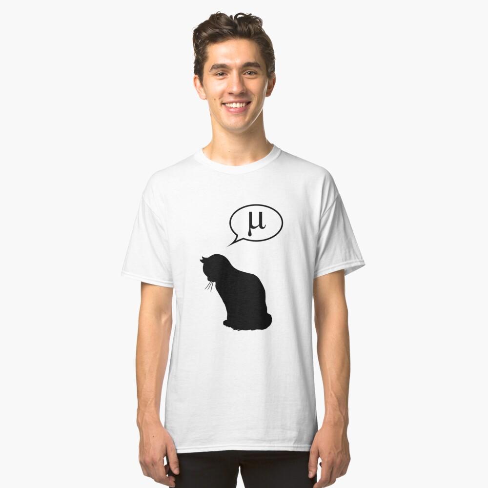 Física gato y coeficiente de fricción Camiseta clásica