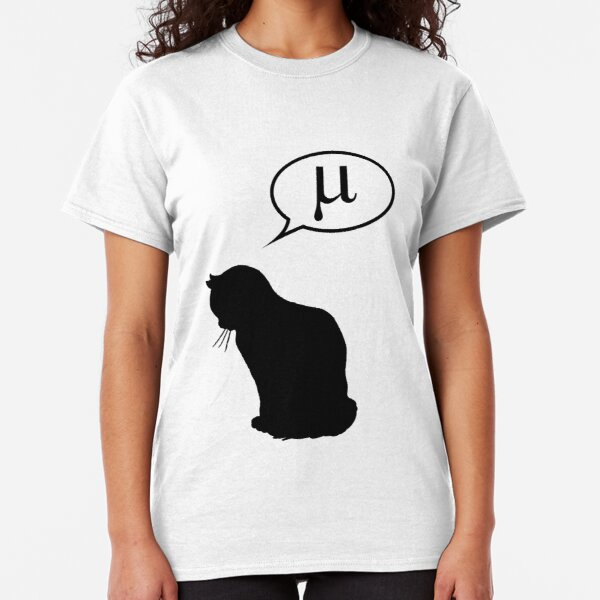 Physics Cat and Friction Coefficient Classic T-Shirt