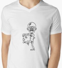 zombie funny comic Men's V-Neck T-Shirt