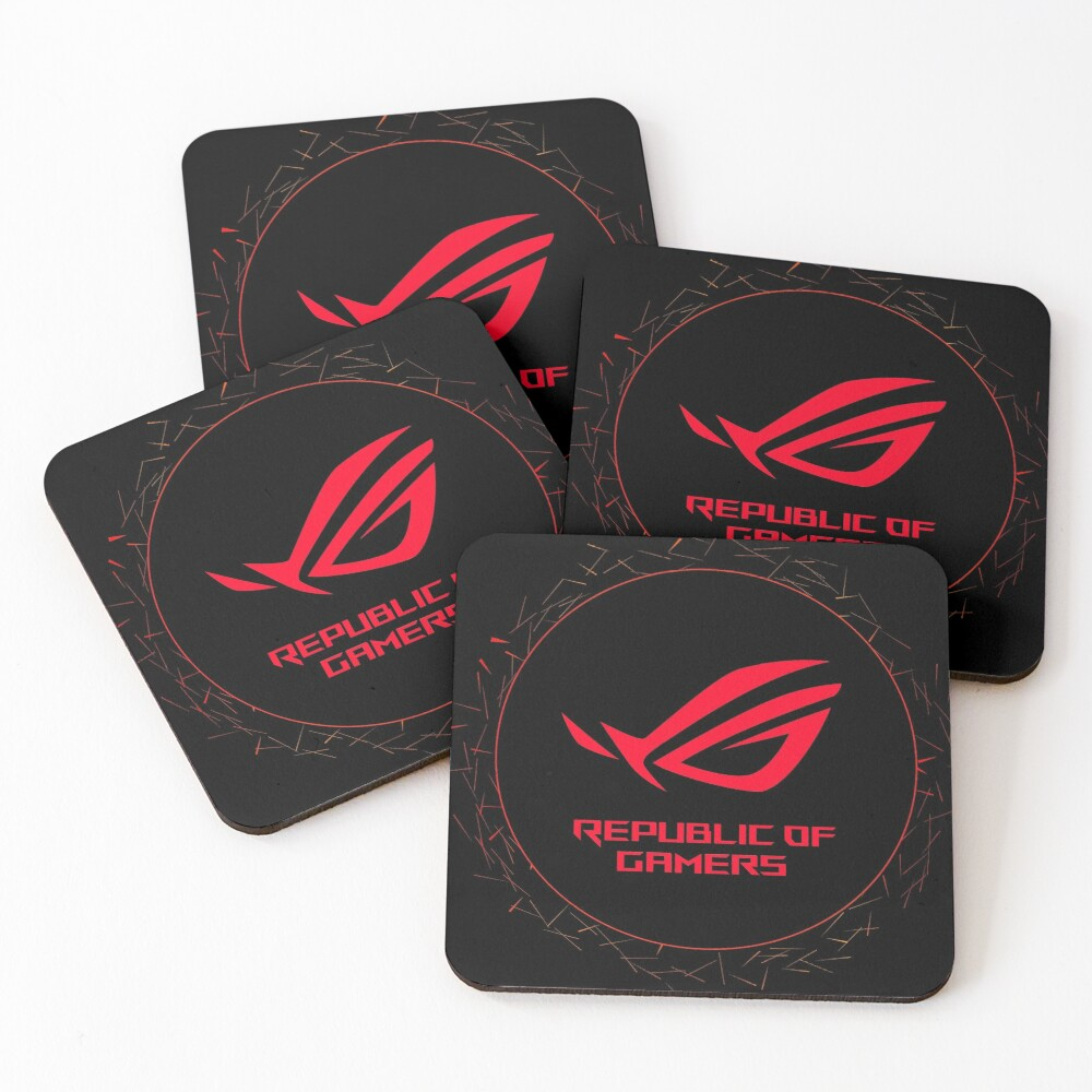 Republic of Gamers - Asus Rog Strix Logotipe Coasters (Set of 4)