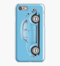 1972 Volkswagen Super Beetle - Marina Blue iPhone Case/Skin