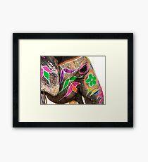 Amber Elephant Framed Print
