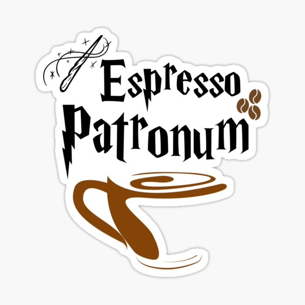 Espresso Magic Spell Sticker