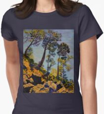 Looming Presence Womens Fitted T-Shirt