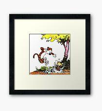 Calvin and Hobbes Playground Framed Print