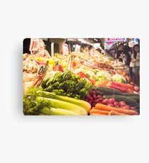 Fresh Vegetables at Pike Place Market Metal Print
