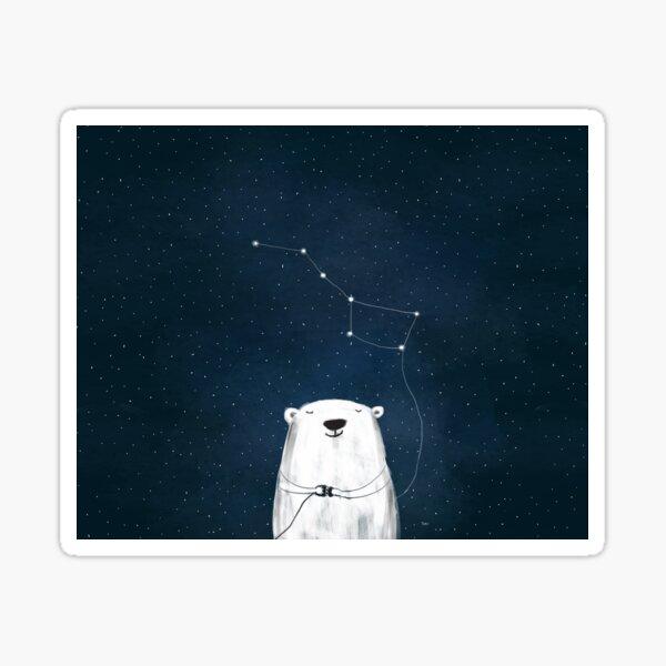 Ursa Major - Polar Bear Constellation Sticker