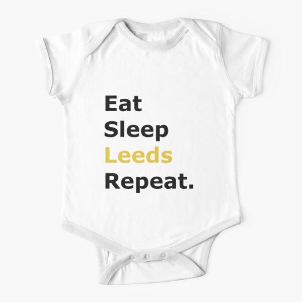 Leeds united Short Sleeve Baby One-Piece