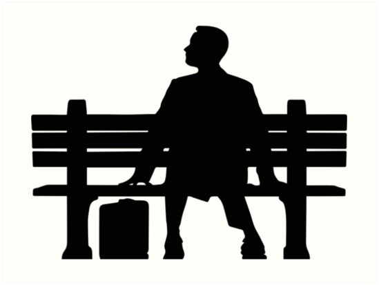 Quot Forrest Gump Silhouette Sitting On Bench Quot Art Prints By